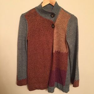 VINTAGE Bauxbei Color Block Knit Cardigan | PM
